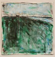 "Original Abstract Minimal Impressionist Landscape Painting By K.A.Davis ""Laund"""