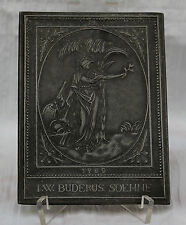 "Buderus Kunstguss - Gusseiserne Reliefplatte "" F.W Budersus Söhne 1980 ""  Nr. 18"