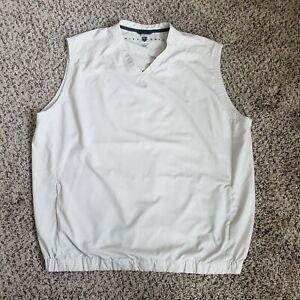 Nike Golf Vest Windbreaker Beige V Neck Athletic Nylon Pullover Mens Sz XL