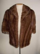 KAUFMAN BROS. WOMANS M-L?  BROWN MINK FUR CAPE JACKET W/ FUR LABEL AUTHORITY TAG