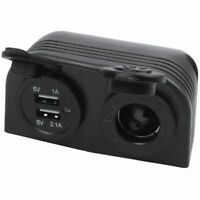 1X(Dual Boat Caravan Car USB Cigarette Lighter Socket Splitter 12V Charger O0C6
