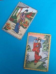 Genuine Vintage,Swap/playing cards, Artist,  Karen Peel, Geisha girls.