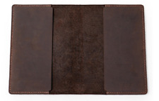 book jacket cover slipcase cow leather customize brown fit 8x5.5x1.4inch Z887
