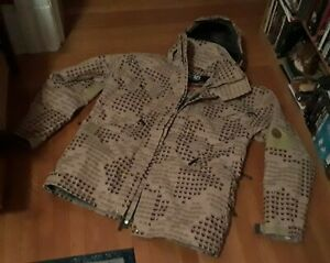 RARE 686 X DRAGON SNOWBOARDING JACKET! XL tan & brown