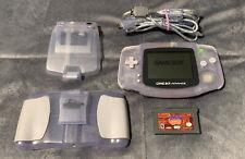 Nintendo Game Boy Advance Handheld GBA - Clear Glacier w/Case, Light, Spyro