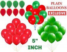 "5"" Merry Christmas Latex Balloons Green & Red Xmas Decoration helium/air baloon"