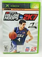 College Hoops NCAA 2K7 (Microsoft Xbox, 2006) Complete CIB - Tested/Works