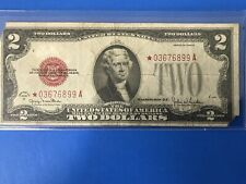 1928 G Red Seal $2 Two Dollar  STAR NOTE