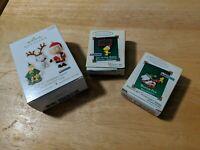 Hallmark Lot of Miniature series Snoopy Peanuts Ornaments - Joy to the Birds +