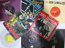 AC/DC, Led Zeppelin, Kiss,Def Leppard, Ozzy Osbourne(8 singles) Hard Rock N Mint