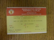 23/01/1991 Ticket: Manchester United v Southampton [Football League Cup Replay]