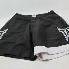 Tapout Fightshorts All Clear Fight Board Shorts  White/Black 32/34