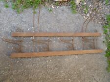 Antique Coat Rack  Wood Kitchen Rack Movable Hooks