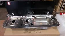 Smev Dometic 9222 Campervan sink & hob  combi unit with cold tap & Template RH