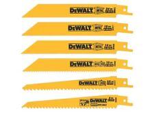 DeWALT DCS381 DWE304 Craftsman Ryobi 6PC Reciprocating Saw Blade Black Decker