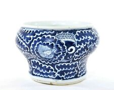 1900's Chinese Blue & White Porcelain Dragon Vase Pot Jar