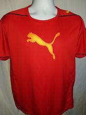 Puma Red Jersey Shirt Sz L Official Hologram