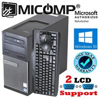 FAST Dell 7010 Tower Computer PC 3.2Ghz 8Gb New Fast 250G SSD Windows 10 WiFi