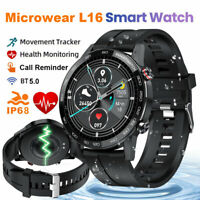 Microwear L16 Smart Watch Waterproof ECG Blood Pressure Oxygen Monitor for Phone
