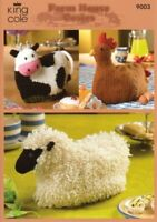 KING COLE Knitting Patterns~9003 D/K Farm House TeaPot Cosy Cosies SPECIAL PRICE