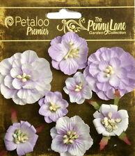 Mixed Blossoms Lavender 8 Paper Flowers 25-45mm Across Penny Lane Petaloo