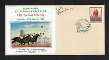Broken Hill St Patrick's Race Club Brushmen of the Bush Artist Signed Cover 1983