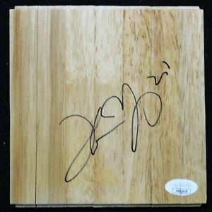 Thaddeus Young Chicago Bulls Signed 6x6 Floorboard JSA Authenticated