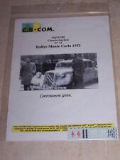 DECALS C.B.COM. 1/43ème Citroën Traction N°55 Rallye Monte-Carlo 1952