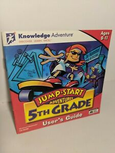 Jump Start Adventures 5TH GRADE PC CD-ROM Windows 1997 Math Reading MANUAL ONLY