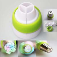 Icing Piping Bag Nozzle Converter Tri-color Cake Decorating Tool 3 Hole UK.