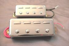 CHROME VIOLIN BASS GUITAR PICKUPS - FIDDLE BASS STYLE - PICKUP SET