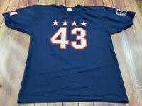 VTG George W. Bush 43rd President Men's Blue Football Style Jersey - Gator - 2XL