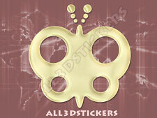3D Sticker Decal Resin Domed Butterfly Adhesive Decal  Beige