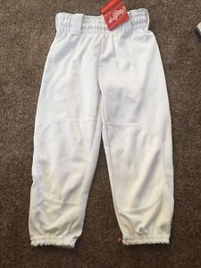 Rawlings Youth White Baseball Pants Walypub NEW