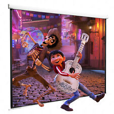 """120"""" 1 1 Manual Pull Down Projection Screen Matte White Home HD Movie Theater"""