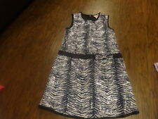 BOUTIQUE LIPSTIK GIRLS 8 ZEBRA SEQUEN DRESS