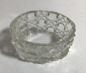SMALL GLASS PIN / RING / TRINKET DISH VINTAGE