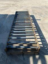 "Adjustable Roller Gravity Conveyor, 10 Ft Length, 36"" Width, 24""- 30"" Height"