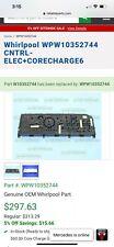Wpw10352744 Whirlpool Cntrl - Elec + Corecharge 6