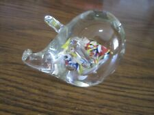 VINTAGE MURANO CONFETTI GLASS PIG PAPERWEIGHT?