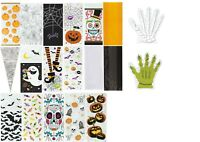 5 10 20 HALLOWEEN CELLOPHANE CONE CELLO PARTY LOOT BAGS GIFT BAGS SPIDER PUMPKIN