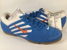 Nike First Touch LA FS SAMPLE Harbor Blue Solar Orange Gum Indoor Soccer Size 9