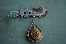 GAR HARRISON DRANK FROM THE SAME CANTEEN 1861-1865 ENCAMPMENT MEDAL