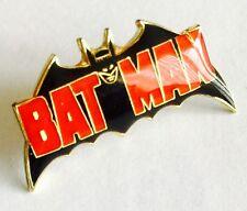"Rare Collectable Vintage Gold Gilded & Enamelled ""Batman"" 1"" (3cm) Pin Badge"