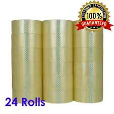 "24 Rolls 2"" x 120 Yards (360' ft) Box Carton Sealing Packing Package Tape Clear"