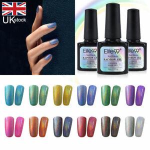 Holographic Rainbow Colour Gel Polish UV LED 10ML Nail Manicure Top Base