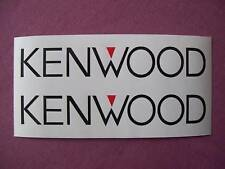 Kenwood Car Decals  /Stickers x2