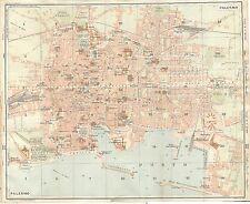 Carta geografica antica PALERMO Pianta della città TCI 1919 Old antique map
