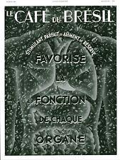Publicité ancienne café du Brésil favorise la fonction 1936 issue de magazine