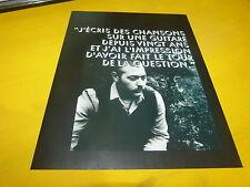 STUART STAPLES - Mini poster Noir & blanc 1 recto verso !!!